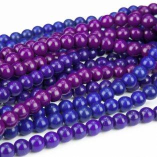 Syntetický tyrkys - fialkový - ∅ 8 mm - 1 ks