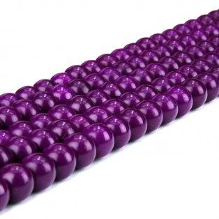 Syntetické tyrkysové korálky - vřesové - ∅ 8 mm - 10 ks