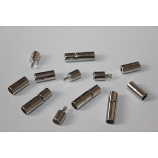 Šroubovací zapínání - stříbrné - 17 x 5 mm - 1 ks