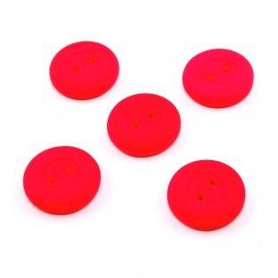 UV Knoflík  - ∅  16 mm - fluorescenčně růžový - 1 ks