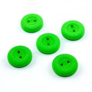 UV Knoflík  - ∅ 16 mm - zelenožlutý - 1 ks