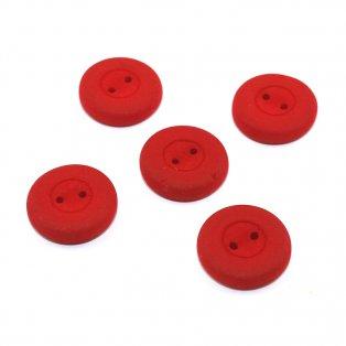 Knoflík Estrela NEON - červený - ∅ 16 mm - 1 ks