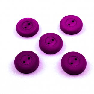 UV Knoflík - ∅ 16 mm - fialově vřesový - 1 ks