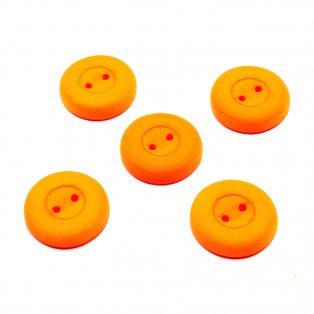 Knoflík Estrela NEON - fluorescenčně oranžový - ∅ 16 mm - 1 ks