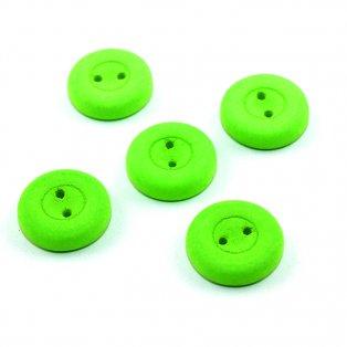 UV Knoflík - ∅ 16 mm - fluorescenčně zelený - 1 ks