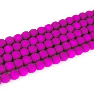 Korálky Estrela NEON - fialově vřesové - ∅ 10 mm - 10 ks