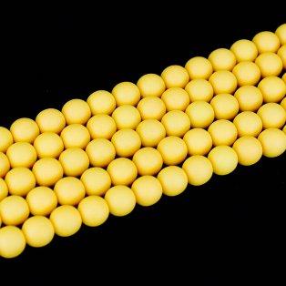 Korálky Estrela NEON - fluorescenčně oranžové - ∅ 10 mm - 10 ks