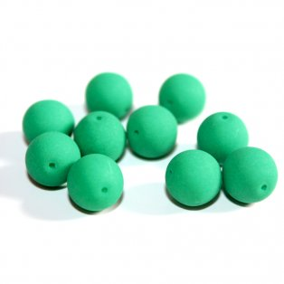Korálky Estrela NEON - smaragdové - ∅ 10 mm - 10 ks