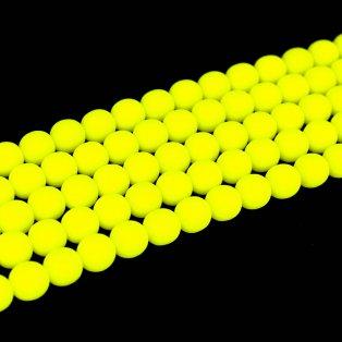 Korálky Estrela NEON - fluorescenčně žluté - ∅ 10 mm - 10 ks