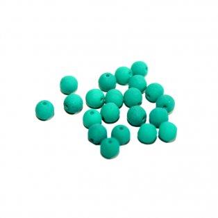 Korálky Estrela NEON - smaragdové - ∅ 4 mm - 10 ks