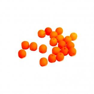 Korálky Estrela NEON - oranžové - ∅ 4 mm - 10 ks