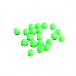 UV korálky - ∅ 4 mm - zelenožluté - 10 ks