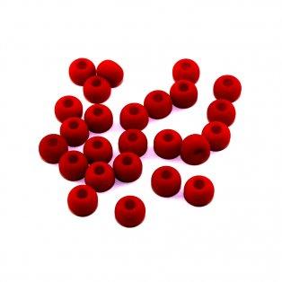 Korálky Estrela NEON - červené - ∅ 5,5 mm - 10 ks
