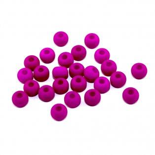 UV korálky - ∅ 5,5 mm - fialově vřesové - 10 ks