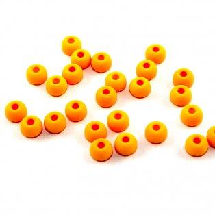 UV korálky - ∅ 5,5 mm - fluorescenčně oranžové - 10 ks