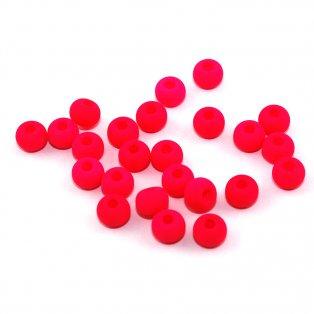 UV korálky - ∅ 5,5 mm - fluorescenčně růžové - 10 ks