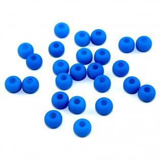 Korálky Estrela NEON - nebesky modré - ∅ 5,5 mm - 10 ks