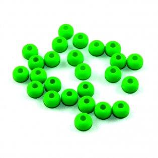 Korálky Estrela NEON - elektricky zelené - ∅ 5,5 mm - 10 ks