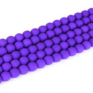 Korálky Estrela NEON - hyacintové - ∅ 6 mm - 10 ks