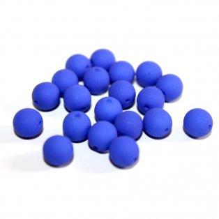 UV korálky - ∅ 6mm  - tmavě modré - 10 ks