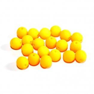 UV korálky - ∅ 6 mm - fluorescenčně oranžové - 10 ks