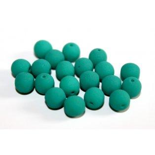 UV korálky - ∅ 6 mm - mátově zelené - 10 ks