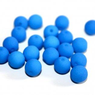 UV korálky - ∅ 6 mm - modré - 10 ks