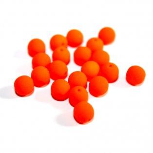 Korálky Estrela NEON - oranžové - ∅ 6 mm - 10 ks