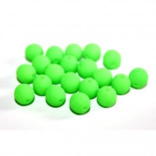 UV korálky - ∅ 6 mm - zelenožluté - 10 ks