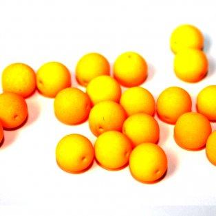 UV korálky - ∅ 8 mm - fluorescenčně oranžové - 10 ks