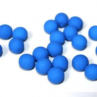 UV korálky - ∅ 8 mm - modré - 10 ks