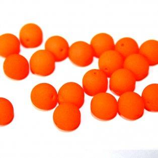 Korálky Estrela NEON - oranžové - ∅ 8 mm - 10 ks