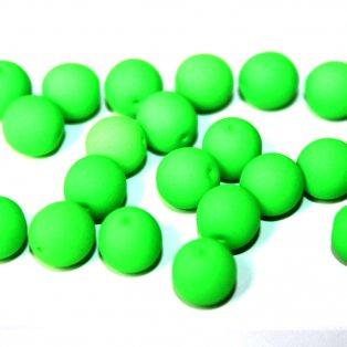 UV korálky - ∅ 8 mm - zelenožluté - 10 ks