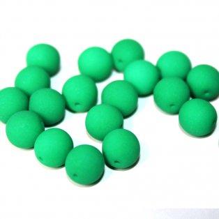 Korálky Estrela NEON - excentrické - smaragdové - ∅ 8 mm - 10 ks