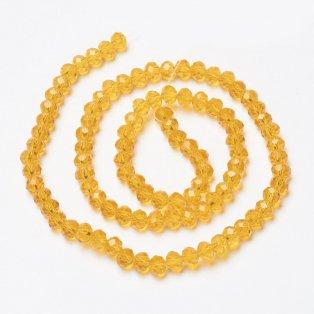 Broušené korálky - slavík - žluté - 8 x 8 x 6 mm - 10 ks
