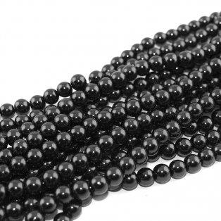 Voskované perly - černé - ∅ 8 mm - 10 ks