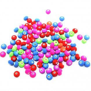 Broušené korálky neonové - Mix - 10 x 7 mm - 10 ks