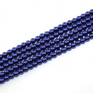 Voskované perly - královská modř - Ø 6 mm - 10 ks