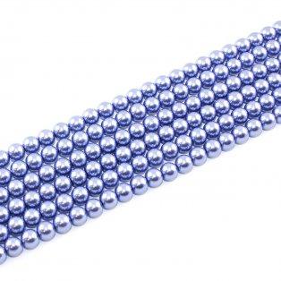 Voskované perly - levandulové - Ø 8 mm - 10 ks