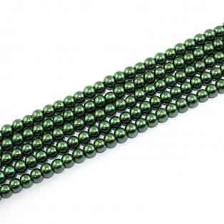 Voskované perly - mechové - Ø 6 mm - 10 ks