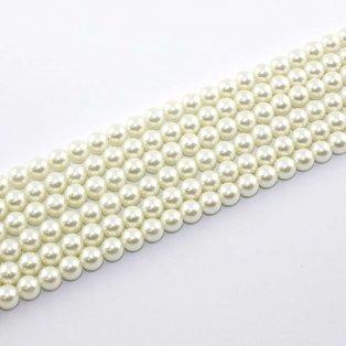 Voskované perly - šampáň - Ø 8 mm - 10 ks
