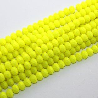 Broušené matné korálky - žluté - 8 x 6 mm - 10 ks