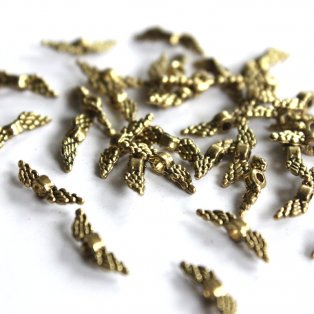 Zlatá křídla - 12 x 3 mm - 1 ks
