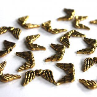 Zlatá křídla - 23 x 7 mm - 1 ks