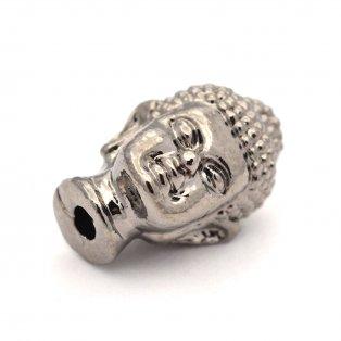 Buddha - ocelově šedý - 13 x 9 x 10 mm - 1 ks