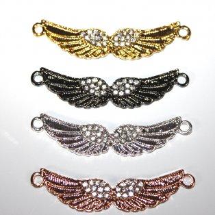 Mezidíl andělských křídel - různá provedení - 12 x 56 x 4 mm - 1 ks