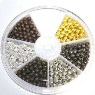 Korálky s hvězdným prachem - ∅ 4 mm - krabička