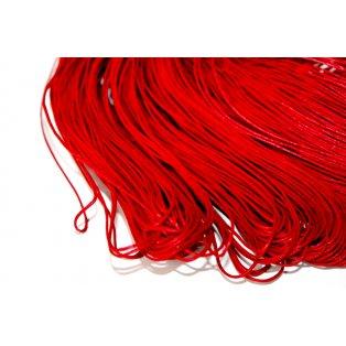 Bavlněná voskovaná šňůrka - červená - ∅ 1 mm - 5 m