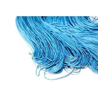 Bavlněná voskovaná šňůra - modrá - ∅ 1 mm - 5 m