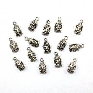 Buddha - stříbrný - 17 x 8 x 5 mm - 1 ks